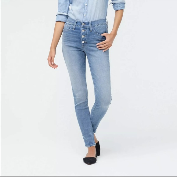 J. Crew High-Rise Skinny Jean Button Fly
